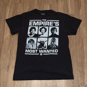 """📽STAR WARS T-shirt: """"The Empire's Most Wanted"""""""